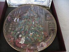 ANNA PERENNA PLATE 4321/7500 Christmas Eve Boxed COA
