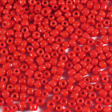 Rocaille Glass Seed Beads Opaque 2mm Red 20g (12/0)