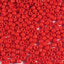 Perles de Rocailles en verre Opaque 2mm Rouge 20g (12/0)