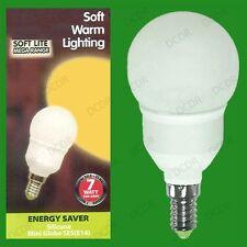 6x 7W Low Energy CFL Globe Round Golf Light Bulb SES E14 Small Edison Screw Lamp