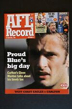 1999 West Coast Eagles vs Carlton 1st semi- final football record UNUSED footy