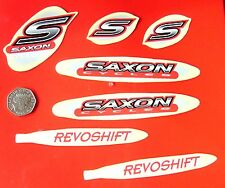 SAXON REVOSHIFT MTB BIKE DECALS 7 pc set - Red n Grey (T5) - Freepost Worldwide