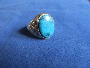 Mens Boys Unisex Blue Coral Fashion Ring Assorted Designs & Sz