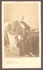 Levitsky, Paris, Homme assis  CDV vintage albumen print c.1860