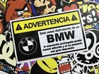 VINILO ADHESIVO PEGATINA STICKER BMW ADVERTENCIA COCHE CAR