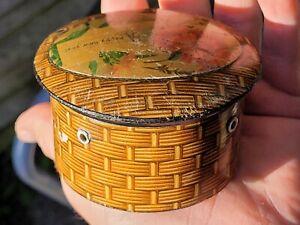 VINTAGE TREEN COTTON THREAD DISPENSER HOLDER BOX NEEDLEWORK