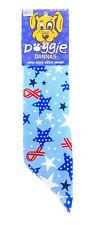 New listing Doggie Dannas Dog Bandana - Osfm Dogs - Blue Stars & Red Ribbons Patriotic -New