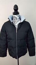 Colebrook Down Coat Womens Winter Jacket Small Black Light blue fleece lined