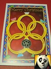 2009 Isle of Man Christmas 50p Pence Five Golden Rings Silver Proof Coin Card