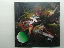 Space Art. Abstract painting. Original canvas art. Galactica