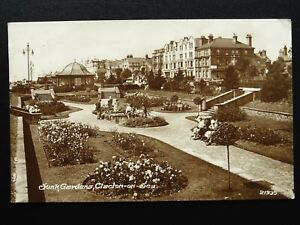 Essex CLACTON ON SEA Sunk Garden c1930s RP Postcard by Cook & Eaves