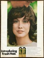 1970 Love's Fresh Lemon Shampoo and Creme Rinse Print Ad Silky Shiny Sexy Hair
