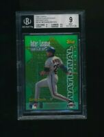 1997 Topps Inter-League Finest Refractors McGwire Bonds BGS 9