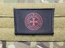 Templar Knight Symbol Tactical Military Hook Backed Morale Patch Crusader