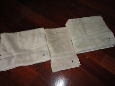 RALPH LAUREN POLO PONY DUNE/FAWN (3) LARGE BATH & HAND TOWELS SET