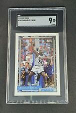 New listing Shaquille O'Neal 1992-93 Topps Rookie Card #362 SGC 9 Shaq