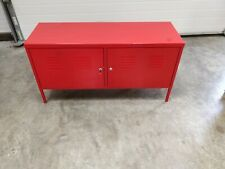 2 x Ikea PS Red Metal Cabinets
