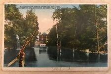 Vintage Postcard Magog River Gorge Sun Life Assurance Co Sherbrooke Quebec CA