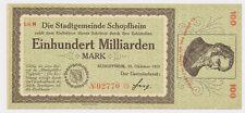 SCHOPFHEIM  2 Millionen Mark 12.Oktober 1922  Notgeld aus Baden Papiergeld  (127