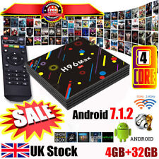 UK Android 7.1 OS H96 Max-H2 Smart TV Box 4GB 32GB RK3328 Quad-Core 2.4G/5G WIFI