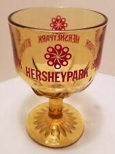 Vtg Hersheypark Amusement Park Souvenir Glass Goblet Rollercoaster Chocolate PA