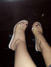 Clear womens sandals slide heels size US 7.5