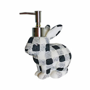 Croscill Easter Bunny Black and White Gingham Hand Bath Pump Soap Dispenser