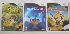 Wii WALL-E, GEORGE OF THE JUNGLE (2008) DRAWN TO LIFE THE NEXT CHAPTER (2009)