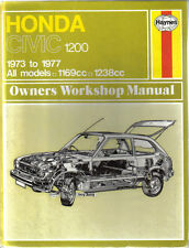 Honda Civic 1200 1973-1977 1169cc & 1238cc Haynes Owners Workshop Manual 1978