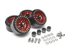 Boom Racing Venomous KRAIT 1.9 Aluminum Beadlock Wheels RED BRW780902R