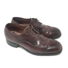 Men's VTG Florsheim 31862 Shoes Oxfords Size 9E Brown Grain Leather Dress I8