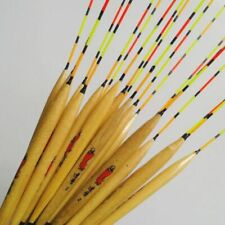 10pcs Wooden Fishing Float 28cm Vertical Bobber Fishing Tackle Tools Accessory