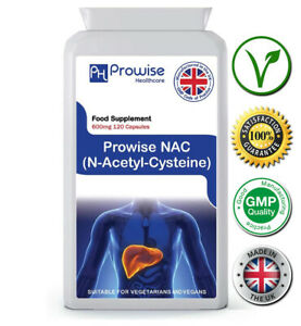 Nac N-acetyl-Cysteine 600mg 120 Cap Support Liver & Lung Function - Prowise