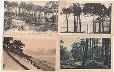 Lot de 4 cartes postales anciennes ARCACHON parc des abatilles