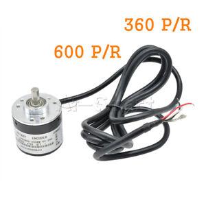 360/600P/R Photoelectric Incremental Rotary Encoder 5V-24V AB Two Phases Shaft