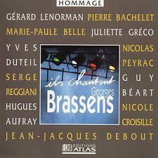 CD Ils chantent Georges Brassens Guy Beart - Pierre Bachelet - Juliette Greco