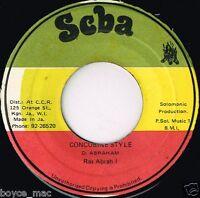 "RAS ABRAH I-concubine style    scba 7""   (hear)   reggae"