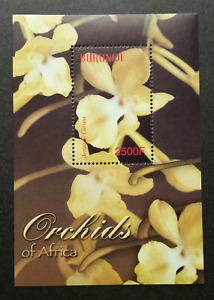 *FREE SHIP Burundi Orchids Of Africa 2004 Flower Flora Plant (ms) MNH