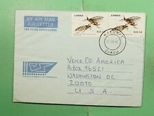 DR WHO 1992 ZAMBIA NAKONDE AEROGRAMME TO USA  f94736