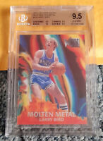 2012-13 FLEER RETRO MOLTEN METAL #19 LARRY BIRD HOF BGS 9.5 QUADS w/ 10 ~ PSA ~
