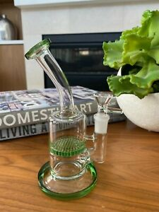 8'' Honeycomb Hookah Glass Water Pipe Bong+ 2 Different Bowls Fast Shipping