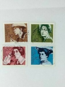West Germany 1975 Women Writers 4 stamp set used