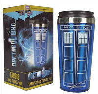 Doctor Who Tardis Mug Stainless Steel Vacuum Thermoses Travel Mug Police Box Cup