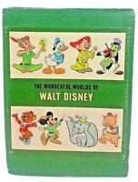 Collectable  Wonderful Worlds of Walt Disney 4 Book Boxed Set Golden Press 1965