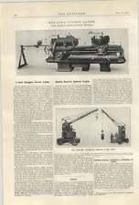 1922 Mobile Electric Battery Crane Wilson Birkenhead Herbert Hexagon Turret