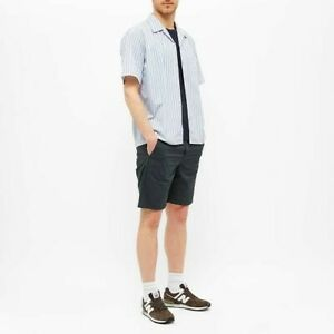 Size M Norse Projects Blue Stripe Camp Collar Shirt