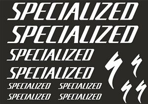 specialized stickers decals vinyl frame bicycle mtb road bike black white red