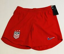 NIKE USA NATIONAL SOCCER VAPORKNIT CREST SHORTS RED WOMENS XS X-Small Away $90