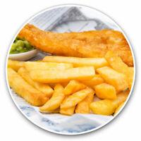 2 x Vinyl Stickers 7.5cm - Fish & Chips Food British Seaside Cool Gift #21529