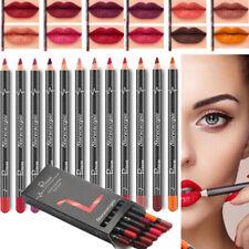 12 Shades Lipstick Pen Waterproof Pencil Lip Liner Long Lasting Matte Makeup Kit